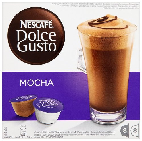 NESCAFÉ Dolce Gusto Mocha 16 Capsules, 8 servings (Pack of 3, Total 48 Capsules, 24 Servings)