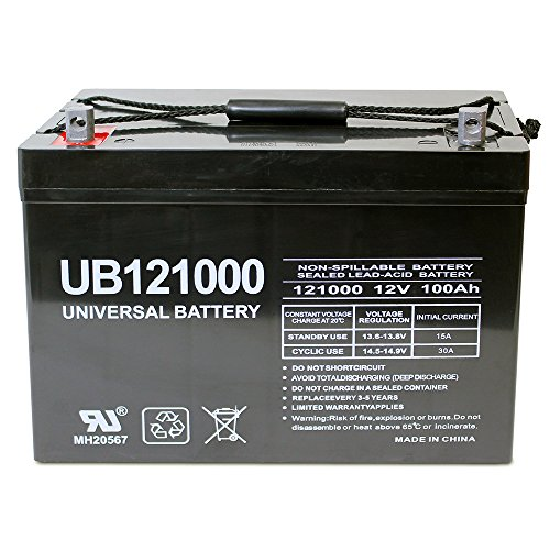Universal UB121000-45978 12v 100AH Deep Cycle AGM Battery 12V 24V 48V(Black) (Battery 12v Deep Cycle compare prices)