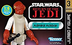 STAR WARS Admiral Ackbar Jumbo Kenner Figure