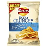 Walkers Extra Crunchy Cheddar and Sour Cream Flavoured Crisps 12x100g Bags