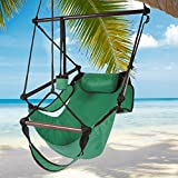 Best Choice Products® Hammock Hanging Chair Air Deluxe Sky Swing Outdoor Chair Solid Wood 250lb Green