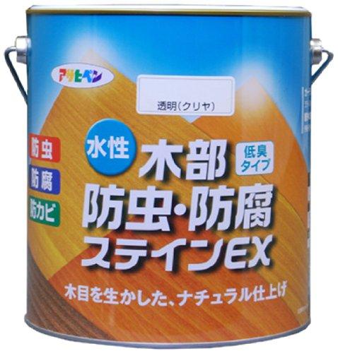 アサヒペン 水性木部防虫・防腐ステインEX 3L パイン