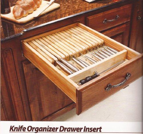 "Knife Organizer Drawer Insert- 18-1/2"" x 22"" x 2-3/8"""