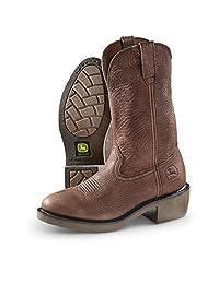 """John Deere Men's 12"""" Round Toe WCT Cowboy Work Boot"""