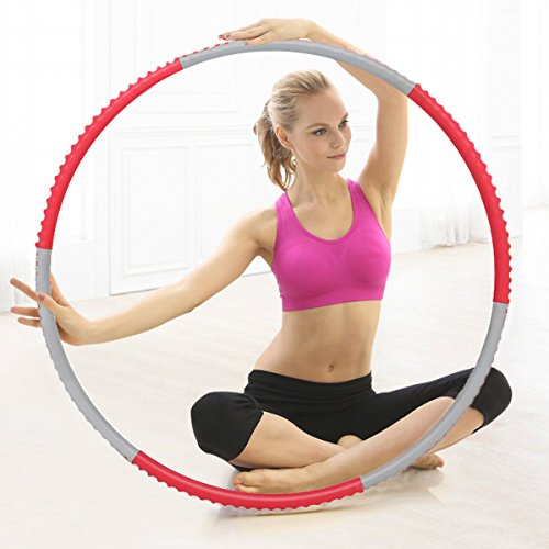 Cusfull Weighted Hula Hoop 2.3 lbs for Fitness, Exercise, Weight Loss-Premium ABS Foam Surface Detachable Hoop for Adults and Kids