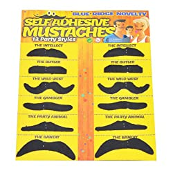 [Best price] Novelty & Gag Toys - Allures & Illusions Fake Mustache Novelty and Toy, Pack of 36 Mustaches - toys-games