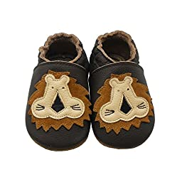 Sayoyo Baby Lion Soft Sole Brown Leather Infant and Toddler Shoes 24-36months
