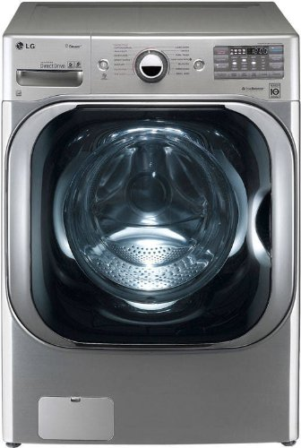 LG WM8000HVA 29-Inch Front Load Steam Washer with 5.1 Cubic Feet Capacity, Graphite Steel