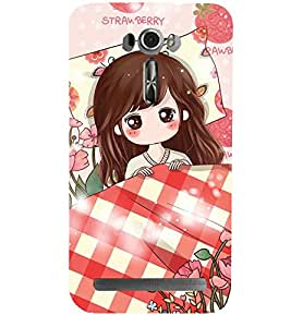 ANIMATED GIRL SURROUNDED BY FLOWERS 3D Hard Polycarbonate Designer Back Case Cover for Asus Zenfone 2 Laser ZE601KL :: Asus Zenfone 2 Laser ZE601KL (6 Inches)
