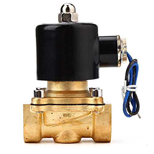 "Dc 24V 3/4"" Electric Solenoid Valve Gas Water Fuels Air Black"