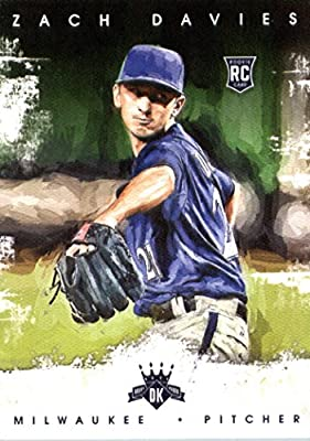 2016 Panini Diamond Kings #158 Zach Davies Milwaukee Brewers Baseball Card-MINT