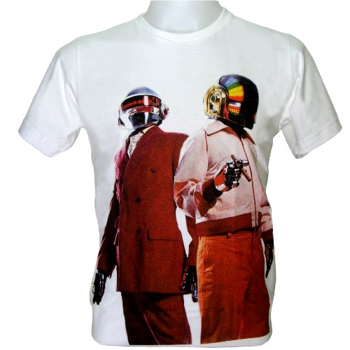 T Shirt V2 Daft Punk Duo DJ Thomus Guy Techno Music Dance Hip Hop Rap New with Tag Size L