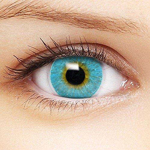 farbige blaue kontaktlinsen 39 intense blue 39 beh lter f r. Black Bedroom Furniture Sets. Home Design Ideas