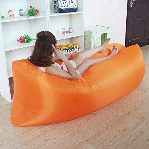 Aufblasbare-Schlafen-Bag-Hangout-Air-Sofas-Camping-Schlafsack-Strand-Sofa-Liege-Bett-Banana-Faul-taschen-Mit-Seitentasche-Faul-Tasche-Laybag-10-Farben-KOSTENLOSER-VERSAND-Orange