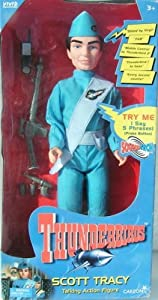 """Gerry Anderson Thunderbirds 12"""" Scott Tracy Talking Action Figure (1999)"""