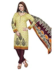 AASRI Party Wear Pure Cotton 3 Piece Unstitched Salwar Suit 504