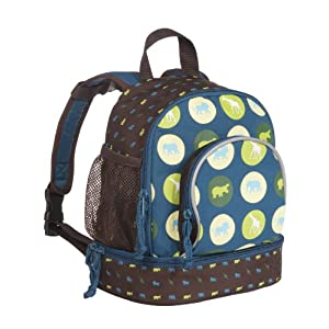 Lassig Mini Savannah Print Petrol Backpack