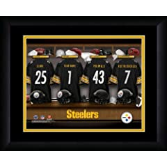 NFL Personalized Locker Room Print Black Frame Customized Pittsburgh Steelers by You