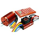 LEOPARD SKYRC 4370KV 9T Brushless Motor & 60A ESC Speed Controller Combo ME720 with RCECHO Full Version Apps Edition