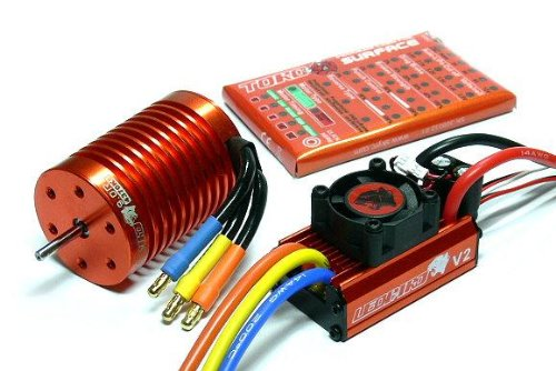 LEOPARD SKYRC 4370KV 9T Brushless Motor & 60A ESC Speed Controller Combo ME720 with RCECHO Full Version Apps Edition (Leopard Brushless Motor compare prices)