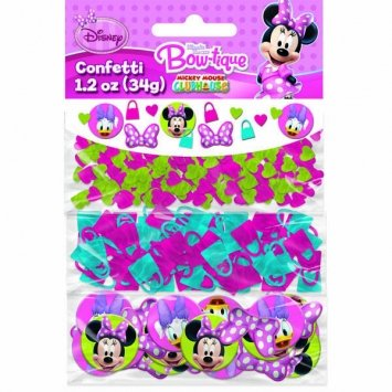 Amscan Disney Minnie Mouse Value Party Confetti, Multicolored, 1.2 oz