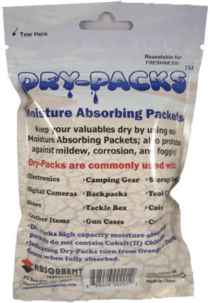 Dry-Packs 1-Ounce Moisture Absorbing Silica Gel Indicating Packet back-7393