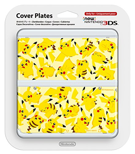 New Nintendo 3ds Cover Plates No.057 PIKACHU Only for Nintendo New 3DS Japan Import racing wheel controller for nintendo 3ds black