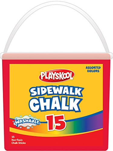 Playskool 15-Count Sidewalk Chalk Tub