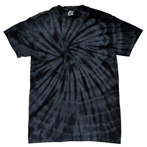Colortone Tie Dye T-Shirt LG Spider Black (Tie Dye Men compare prices)
