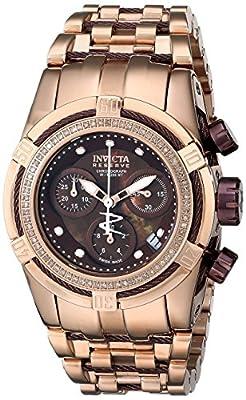 Invicta Women's 15453 Bolt Analog Display Swiss Quartz Rose Gold Watch