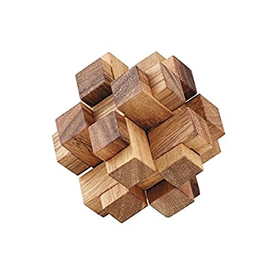 AmaWood 3D Square Cube Wooden Puzzle