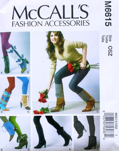 MCCALL'S M6615 ~ LADIES / WOMEN FOOTWEAR TOPPERS