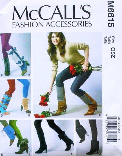 MCCALL'S M6615 ~ LADIES / WOMEN FOOTWEAR TOPPERS
