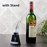 Wine Aerator Pourer, Premium Aerating Pourer and Decanter Spout with Stand, HongToo