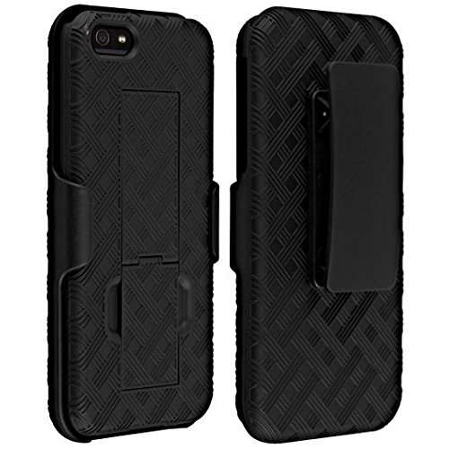 Verizon Shell Holster Combo Case for Apple iPhone 5/5S/Se with Kick-Stand & Belt Clip (Iphone 5 Case With Clip compare prices)