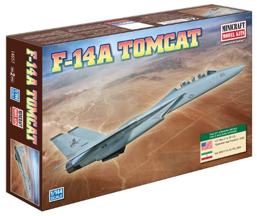 Minicraft F-14A Tomcat USN with 2 Marking Options, 1/144 Scale - 1