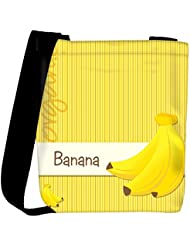 Snoogg Bright Organic Banana Card In Vector Format Womens Carry Around Cross Body Tote Handbag Sling Bags