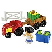Little People Farm Tractor & Trailer Plyset
