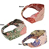 Silly yogi Pack of 3 Indo Batik headband