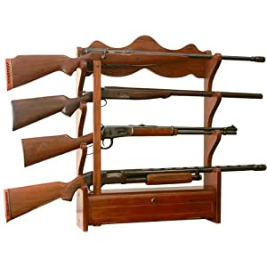 American Furniture Classics 840 4 Gun Wall Rack, Medium Brown by American Furniture Classics