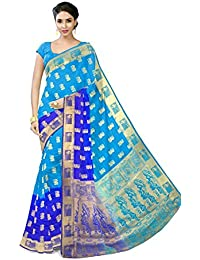Vatsla Enterprise Cotton Silk Saree (Vbops16_Sky Blue)