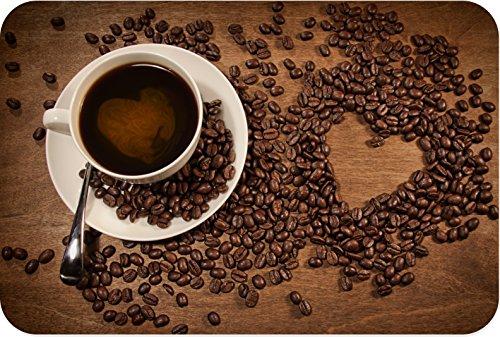 Rikki Knighttm Heart Shape From Coffee Beans On Wood Large Glass Cutting Board