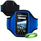 Quality BLUE Samsung Infuse 4G Armband with Sweat Resistant lining for Samsung Infuse 4G (AT& T) Android Phone + Live * Laugh * Love VanGoddy Wrist Band!!!