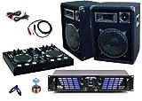 PA SET Verstärker Endstufe Lautsprecher MIDI-Controller USB MP3 Mixer DJ-687