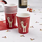 Rocking Rudolf Christmas Party Cup - pkt 8