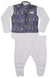 Viaan Retail Boys' Cotton Kurta Pyjama Set (VMDY10022915_1, White, 3-4 Years)