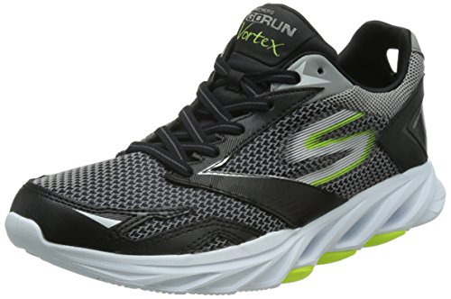 SkechersGo Run Vortex - Scarpe Running, Uomo, Nero (Black/Lime), 42.5