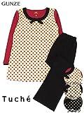 (グンゼ)GUNZE Tuche(トゥシェ)婦人長袖・長パンツパジャマ TF4535