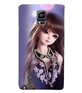 Printvisa Baby Doll Dressed Up In Blue Back Case Cover for Samsung Galaxy Note 4 N910::Samsung Galaxy Note 4 Duos N9100