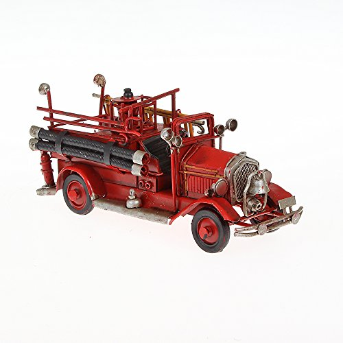 Metal Model Small Fire Engine Model 1 x Height 16 cm x 6 cm x 6 cm